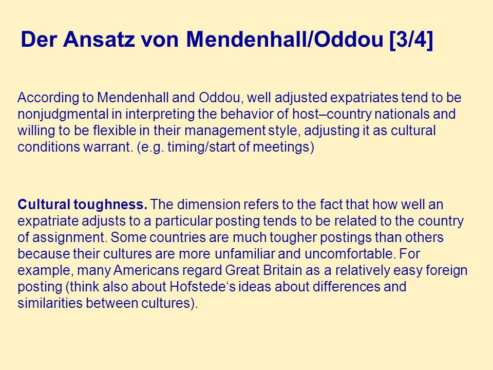 Der Ansatz von Mendenhall/Oddou [3/4]